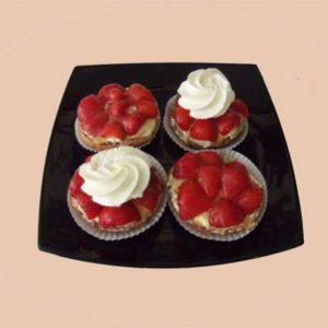 Aardbeienschelp met of zonder slagroom
